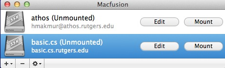 Mounting Linux/Unix Home Directory on MacOS X Securely | Department